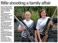 Karori Rifle Club's Steve & Karyn Flanagan we wish them luck in the 2016 Trans-Tasman Match to be held at the Belmont Rifle Range in Brisbane at the end of June